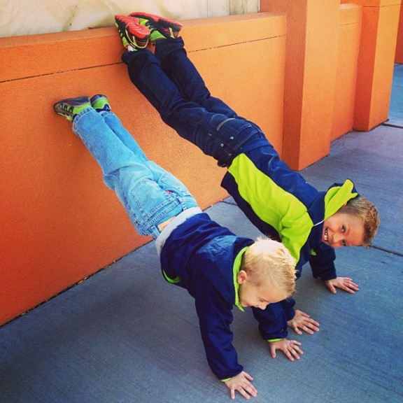 My inspiration, Bryce (8) & Kade (4).