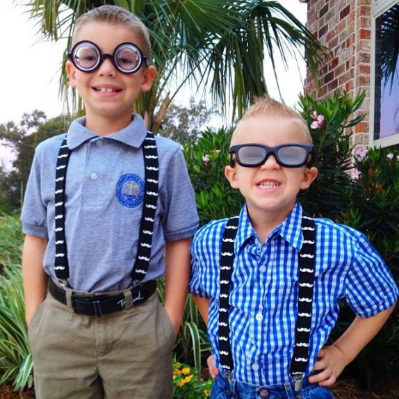 "Bryce & Kade embracing their inner ""nerd""."