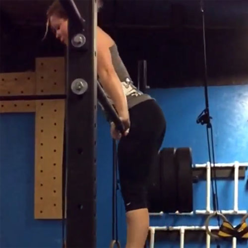 Bar muscle-up practice!